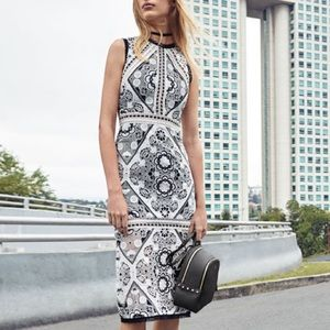 Alexis keena white and black lace dress